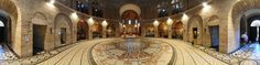 panorama photo from Middle East by Zoran Strajin. Farther along the alley is the commandingly situated Roman Catholic Church of the Dormition (the . Benedictine Monks, Romanesque, Town And Country, Roman Catholic, Pavement, Jerusalem, Building Design, How To Fall Asleep, Medieval