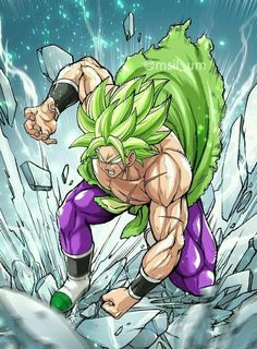 """Brolly, Dragon Ball - Draw animes like this with the Fanart method, even without having the """"gift of drawing"""", click - Dragon Ball Gt, Broly Ssj4, Ball Drawing, Epic Characters, Anime Artwork, Manga Anime, Character Art, Fanart, Drawings"""
