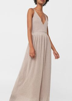 Vestido hilo metalizado | MANGO