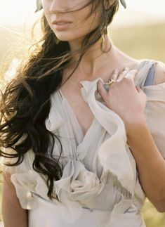 Samuelle Couture, Greek Goddess « Jose Villa | Fine Art Weddings