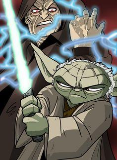Yoda vs. Sidious by ~grantgoboom