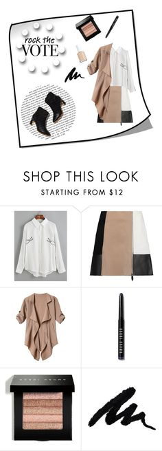 """""""Rock the vote"""" by briesepb ❤ liked on Polyvore featuring Rupert Sanderson, Alexander Wang, Bobbi Brown Cosmetics and Essie"""