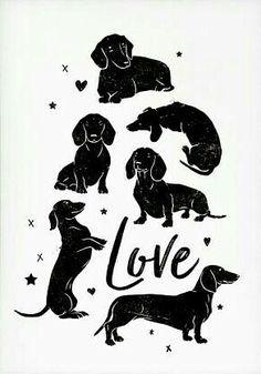 25 ideas tattoo dog dachshund mom for 2019 Dachshund Tattoo, Dachshund Funny, Dachshund Art, Dachshund Gifts, Dachshund Puppies, Dashund, Weenie Dogs, Doggies, Dog Silhouette