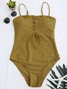 SHARE & Get it FREE | High Cut Lace Up Swimwear - GingerFor Fashion Lovers only:80,000+ Items • New Arrivals Daily Join Zaful: Get YOUR $50 NOW!