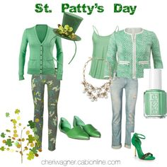 """Ladies CAbi has us covered for """"St. Patty's Day Style""""... get those orders in today!   by cheri-krause-wagner on Polyvore"""