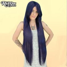 "Cosplay Wigs USA™ <br> Straight 100cm/40"" - Purple Black -00357"
