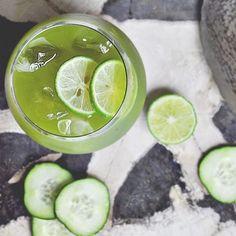 Lemon, Zen Green Tea matcha, mint and cucumber for the perfect iced tea ❤️☺️ www.zengreentea.com.au #matcha #superfood