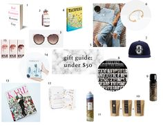 Gift Guide: Under $50 - Fashion, beauty, books and more present ideas.