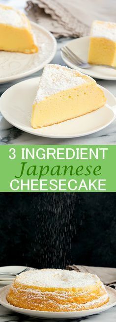 3 Ingredient Japanese Cheesecake. Shortcut version for light, cotton soft Japanese cheesecake.