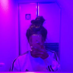 but look how amazing this lighting is? it was in the airplane bathroom. you wouldnt know it but i spent 10 hours of vomiting from food… Violet Aesthetic, Dark Purple Aesthetic, Aesthetic Colors, Bad Girl Aesthetic, Aesthetic Photo, Aesthetic Pictures, Tumblr Photography, Photography Poses, Girl Pictures