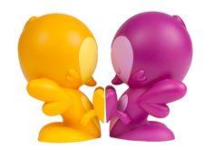 Lovebirds Teal, Black, Purple & Orange Editions kid robot