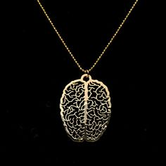 A Little Extra Brain Necklace - psychology gift - biology graduation gift - 24 Karat gold plated pendant I would lose my head if it werent attached. In case you lose yours, this necklace will remind you whats inside your head. Make sure you dont lose the Cute Jewelry, Jewelry Accessories, Jewelry Necklaces, Gold Jewellery, Jewlery, Jewelry Ideas, Great Graduation Gifts, Graduation Parties, Graduation Decorations