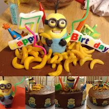Despicable me minion cake.  Things to Share - Collections - Google+ Also includes template for royal icing minions