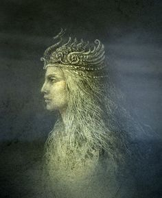 Yaroslav Gerzhedovich - Untitled, 2010 Acrylics on Paper and Processing Irish Mythology, Russian Mythology, Legends And Myths, Mystique, Goth Art, Gods And Goddesses, Art Plastique, Sculpture, Les Oeuvres