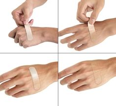 Chameleon Bandage – band-aid that adjusts itself to your skin tone! So cool.