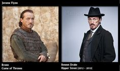 Jerome Flynn on both Game of Thrones and Ripper Street.