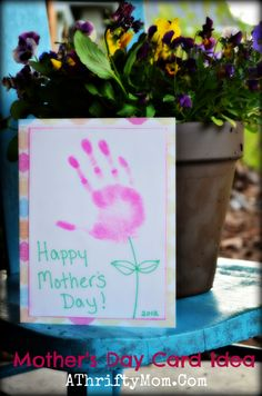 Quick and Simple Mother's Day card that is sure to please!  See post for step by step DIY guide.