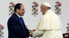 awesome El papa llega a El Cairo buscando reparar lazos con el islam