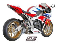 HONDA CBR 1000RR /SP '14-16 EXHAUST BY SC-PROJECT Honda Cbr 1000rr, Motorcycle Exhaust, Motogp, Exhausted, Carbon Fiber, Cars Motorcycles, Racing, Bike, Vehicles