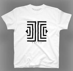 ROTUSデザインのオリジナルTシャツです。イリュージョン模様のシンプルでスタイリッシュなデザインです。