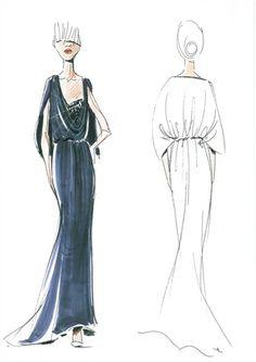 Vionnet Sketch #fashion #illustration