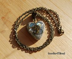 FREE shipping  Heart Shape Orgonite Necklace by InnerMind on Etsy