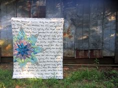 Emerge quilt for Angled class - Lonestar applique SHUT THE FRONT DOOR, I love this!