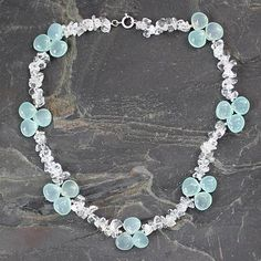 Quartz and chalcedony choker, 'Icicles'. Shop from #UNICEFMarket and help save the lives of children around the world.