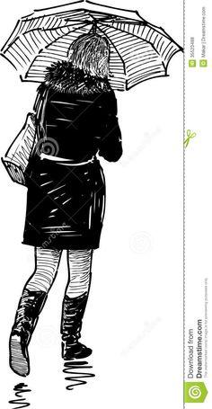 She walks alone, she is dark, she is goth.