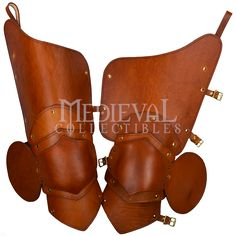 Knightly 3/4 Leather Leg Armour - DK5231 from Dark Knight Armoury
