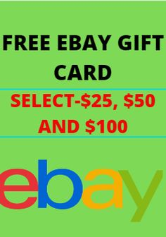 Free Ebay Gift Card Code Generator-Select $25, $50 and $100. You can also find out how to redeem your eBay Gift Card or check your gift card. Where can I get help if I'm having trouble redeeming my eBay Gift Card. We have gift cards for every occasion, and you can even choose custom.  ebay gift card redeem, ebay gift card code, ebay gift card balance, ebay gift card customer service, ebay gift card for sale, $500 ebay gift card, ebay gift card amazon, how to sell on ebay for beginners, my… Best Gift Cards, Free Gift Cards, Free Gifts, Paypal Gift Card, Gift Card Giveaway, Gift Card Games, Making Money On Ebay, Free Gift Card Generator, Free Printable Cards