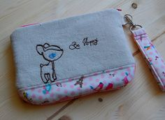 Be Happy Deer Embroidered Wristlet   Flickr - Photo Sharing!