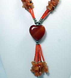 Carnelian Necklace (EA647) 56cm natural gem stone crystal healing reiki