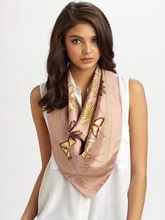 gucci silk foulard marmalle scarf sakscom - Foulard Color