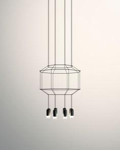 Wireflow Chandelier - 8 LEDs by Vibia Home Lighting Design, Modern Lighting, Pendant Lamp, Pendant Lighting, Multi Light Pendant, Glass Diffuser, Modern Chandelier, Chandeliers, Light Fittings