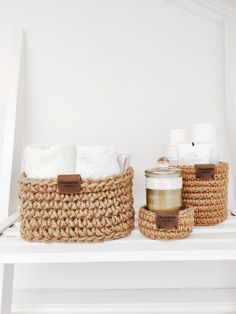 Crocheted basket of natural jute will be the best organizer for home. This basket will look great on your nightstand or in any room in your house. I am the author of this product. Sisal, Decoration, Basket Weaving, Home Crafts, Crochet Projects, Nightstand, Handmade Items, Crochet Patterns, Etsy Seller