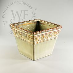 Check out our great selection of Ceramic Containers. We have a big variety of Ceramic Containers at your disposal with wholesale pricing. Ceramic Flower Pots, Ceramic Pots, Wholesale Flowers And Supplies, Mexican Themed Weddings, Decorative Planters, Vines, Container, Ceramics, Ceramica