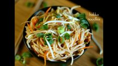 hakka noodles recipe, veg hakka noodles recipe, vegetable noodles with step by step photo/video recipe. noodles prepared with veggies in hakka cuisine style Hakka Noodles Recipe, Pasta Noodles, Vegetable Noodles, Vegetable Recipes, Indian Food Recipes, Asian Recipes, Ethnic Recipes, Asian Vegetables, Veggies