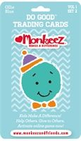 "Monkeez and Friends. Volume One Blue ""Ollie Octopus"" Do Good Trading Cards"