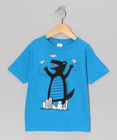 With quality cotton construction and a quirky print, this tee is a perfect fit for a little cutup.100% cottonMachine wash; tumble dryImported