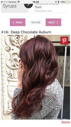 Deep chocolate auburn
