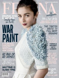 Check out Full Photoshoot Set of pics of Alia Bhatt Photoshoot for Femina December 2016 Issue 2016 ! Alia Bhatt is cover girl for December 2016 Femina Issue Bollywood Actors, Bollywood Celebrities, Bollywood Fashion, Celebrities Fashion, Bollywood News, Alia Bhatt Photoshoot, Photoshoot Pics, Graphic Eyes, Celebrity Magazines