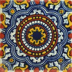 Traditional Mexican Tile - Rosario I - 4 x 4