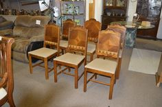 6 Art Deco Chairs in excellent condition