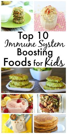 Immune System Boosting food for Kids. These are the healthy foods you want in your kids diet every week. Keep your kids' health as a top priority all year long. These recipes and ideas will help you.