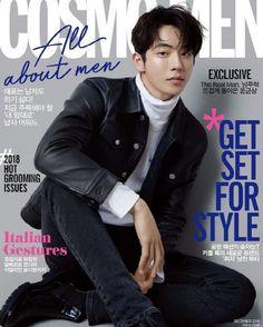 Nam Joo Hyuk Cosmo Men Korea December 2018 Look 1 People Tumblr, Jong Hyuk, Im Falling For You, Nam Joohyuk, Lee Sung Kyung, Weightlifting Fairy Kim Bok Joo, Kdrama Actors, Asian Celebrities, Male Magazine