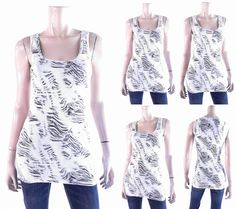 Route 66 Womens Size L Cami Tank Top Pull Over Scoop Neck Fitted Animal Tee Chop