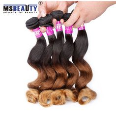 Msbeauty Curly Hair Grade 7A Brazilian Weave Hair Loose Wave  Hair Extensions Ombre Human Hair Weave