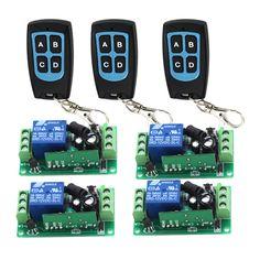 DC12V Wireless Remote Control Switch RF Remote Switch Receiver + Transmitter 315MHZ /433Mhz SKU: 5149