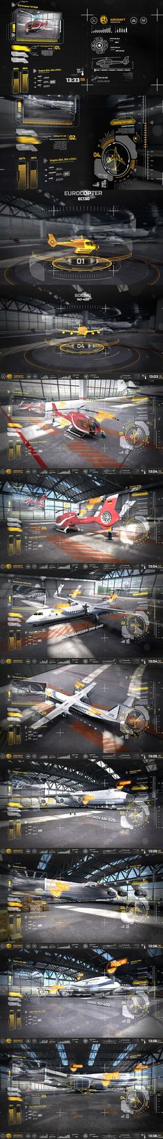 Nice and in this Ventuz Aircraft Interface by Design Ui, Game Ui Design, Layout Design, Gui Interface, User Interface Design, Desing Inspiration, Template Web, Page Web, Electronic